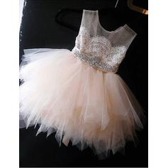 lace and tulle flower girl dresses