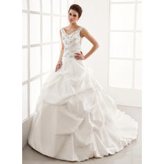 Sweetheart General Plus - Ball-Gown Taffeta Wedding Dresses (002196829)