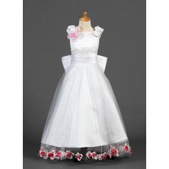 A-Line/Princess Floor-length Satin/Tulle - Gorgeous Flower Girl Dresses (010007327)