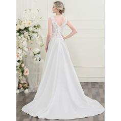 langermet isblå brudekjoler