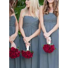 Bridesmaid Dresses Strapless A-Line/Princess Sleeveless Floor-Length (007144982)