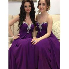 A-Line/Princess Sweetheart Floor-Length Bridesmaid Dresses With Beading