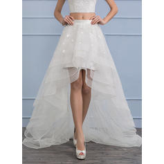 Separates Asymmetrical Organza Wedding Skirt With Flower(s) (002112575)