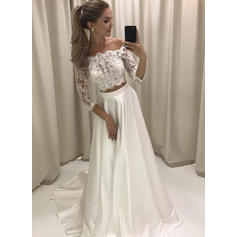 ball wedding dresses with sleeves