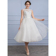 Organza Lace A-Line/Princess With Chic General Plus Wedding Dresses