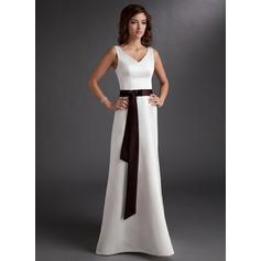 vestido de novia de dama de honor largo
