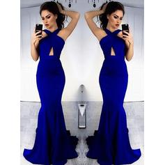 Halter Sheath/Column With Satin Prom Dresses