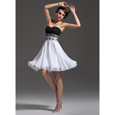 Precioso Corte A/Princesa Gasa Baile de promoción (016008473)