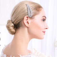 "Combs & Barrettes Wedding Rhinestone/Alloy 3.35""(Approx.8.5cm) 2.17""(Approx.5.5cm) Headpieces"