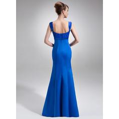 Corte imperial Escote redondo Satén Organdí Elegante Vestidos de madrina (008213106)