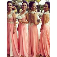 A-Line/Princess Sweetheart Floor-Length Bridesmaid Dresses With Appliques Lace (007218557)