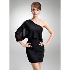 Flattering Sheath/Column General Plus Chiffon Cocktail Dresses (016021254)