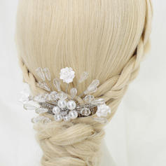 "Combs & Barrettes Wedding/Special Occasion/Party Crystal/Alloy/Imitation Pearls/Ceramic 4.72""(Approx.12cm) 3.74""(Approx.9.5cm) Headpieces"