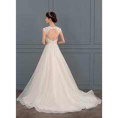 straight wedding dresses no train