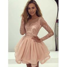 Appliques A-Line/Princess Short/Mini Chiffon Homecoming Dresses (022216295)