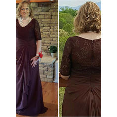 A-Line/Princess V-neck Chiffon Magnificent Mother of the Bride Dresses