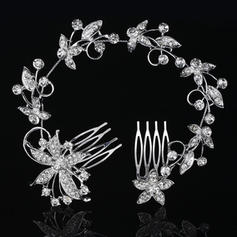 "Combs & Barrettes Wedding/Special Occasion Rhinestone/Alloy 10.63""(Approx.27cm) 2.37""(Approx.6cm) Headpieces"
