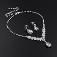 Jewelry Sets Alloy/Rhinestones Rhinestone Lobster Clasp Pierced Wedding & Party Jewelry