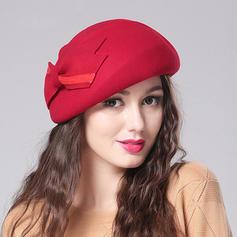 Wollen mit Bowknot Baskenmütze Hut Schöne Damen Mützen
