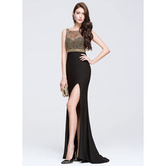 long feather prom dresses