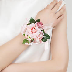 "Wrist Corsage Free-Form Wedding/Party Satin/Cotton 3.15"" (Approx.8cm) Wedding Flowers"