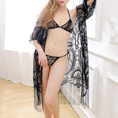 Sleepwear Special Occasion Lace Sexy Panties/Bra/Coat Lingerie