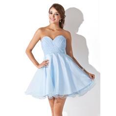 Empire Short/Mini Chiffon Tulle Sweetheart Homecoming Dresses (022008933)