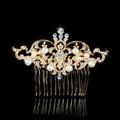 """Combs & Barrettes Wedding/Special Occasion/Party Rhinestone/Alloy/Imitation Pearls 3.35""""(Approx.8.5cm) 2.36""""(Approx.6cm) Headpieces"""
