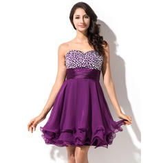 Empire Sweetheart Short/Mini Homecoming Dresses With Beading (022214011)
