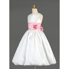 pink flower girl dresses size 7