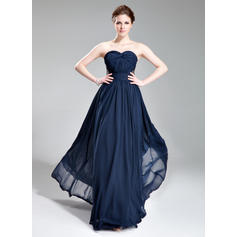 Chiffon Sweetheart A-Line/Princess Sleeveless Chic Evening Dresses (017019741)