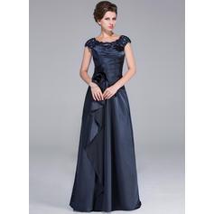 Corte A/Princesa Charmeuse Princesa Escote redondo Vestidos de madrina (008210486)
