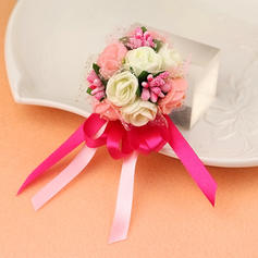 Wrist Corsage Wedding Fabric Girly Wedding Flowers