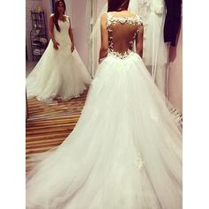 Appliques Sweetheart Ball-Gown - Tulle Wedding Dresses
