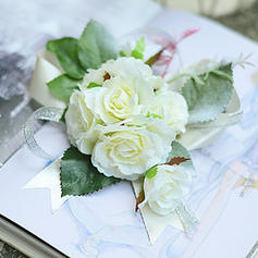 "Wrist Corsage Wedding/Party Satin/Cotton/Ribbon 1.18""(Approx.3cm) 3.94""(Approx.10cm) Wedding Flowers"