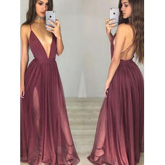 Fashion Chiffon Evening Dresses A-Line/Princess Floor-Length V-neck Sleeveless