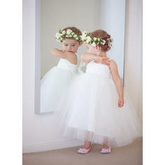 Ball Gown Sweetheart Ankle-length With Bow(s) Tulle Flower Girl Dresses