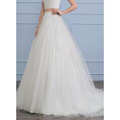 Traîne moyenne Tulle Robe de mariée (002112574)