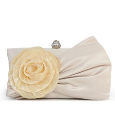 Clutches Wedding/Ceremony & Party Silk/Lace Clip Closure Gorgeous Clutches & Evening Bags