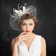 Cambric/Fjær/Tyll med Tyll Fascinators Romantisk Damene ' Hatter
