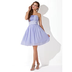 08533de5c9d Empire Knee-Length Homecoming Dresses Strapless Chiffon Sleeveless ...