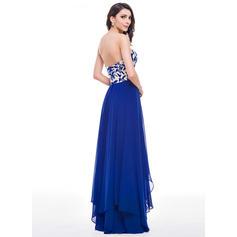 Gasa Sin tirantes Novio Corte A/Princesa Vestidos de baile de promoción (018059414)