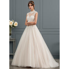 t length wedding dresses with sleeves