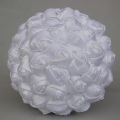 "Bridal Bouquets/Bridesmaid Bouquets Round Wedding/Party Satin 7.09""(Approx.18cm) Wedding Flowers"