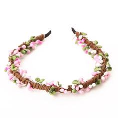 Lovely Kangas/Muovi Kukka tyttöjen päähine/Kukkia ja höyhenet/Liikuttunut