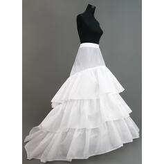 Unterröcke Kapelle-schleppe Nylon/Tüll Netting Ballkleid Gleiten/Volle Kleid Gleiten 3 Ebenen Reifröcke
