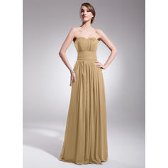 A-Line/Princess Sweetheart Floor-Length Bridesmaid Dresses With Ruffle (007063017)