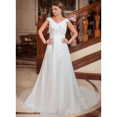beach wedding dresses plus size