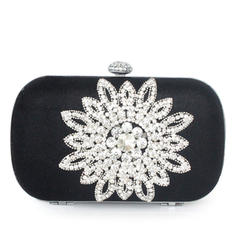 Clutches Ceremony & Party Silk Clip Closure Elegant Clutches & Evening Bags