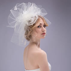Fascinators Wedding/Special Occasion Rhinestone/Imitation Pearls/Net Yarn Handmade Headpieces